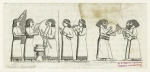 [Assyrian musicians.] Digital ID: 832242. New York Public Library