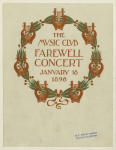 The Music Club farewell concert January 18 1896.