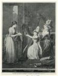 Madame de Genlis enseignant la harpe a la Princesse d'Orléans.