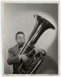 Fred Allen playing the tuba