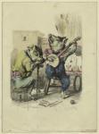 Hog playing the banjo.