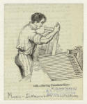 Cutting pianoforte keys.