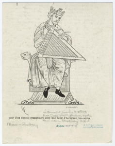 [King David playing the psaltery.]