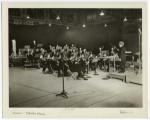 Interior, CBS studio, with orchestra