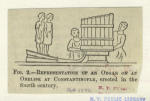 Representation of an organ on an obelisk at Constantinople, erected in the fourth century.
