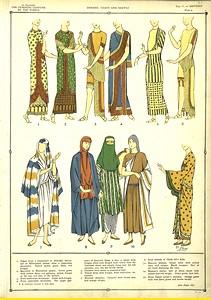 Dresses, coats and shawls