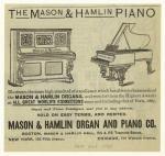 The Mason & Hamlin piano.