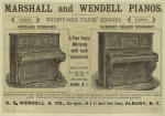 Marshall and Wendell pianos.