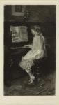 Meisje aan de piano.