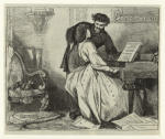 Man and woman by piano.