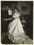 Woman playing the piano.