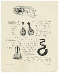 Italy : Mandolin ; Mandolin ; Lyre ; Serpentine.