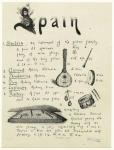 Spain: mandora ; clarionet ; tambourine ; drum ; castanets ; psaltery.