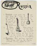 Russia : 1. balaläika ; 2. torban ; 3. balaläika.