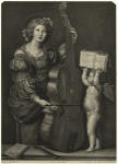 [Saint Cecilia with an an
