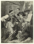 """Violinist and children performing """"Yankee Doodle."""""""