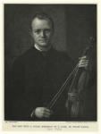 The man with a violin (portrait of T. Cole).