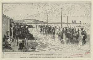 The bathing hour, Trouville.