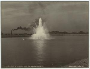 Fountain in reservoir, Highland Park, Rochester, N.Y.