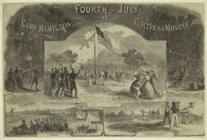 Fourth of July at Camp Hamilton, near Fortress Monroe.