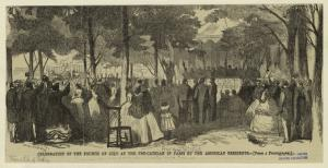 Celebration of the Fourth of July at the Pre-Catelan in Paris by the American residents.
