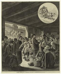 Chinese immigrants at the San Francisco custom-house.