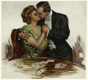 A game of hearts. Digital ID: 833776. New York Public Library