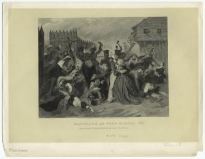 Massacre at Fort Mimms.