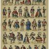 Personnages & costumes variés.