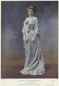 Théatre de la Renaissance : L'adversaire, Madame Breautin -- Mlle Juliette Darcourt.