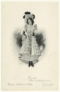 [Actress wearing a stage costume.]
