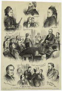 The Tilton-Beecher trial -- portraits and incidents.