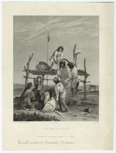 Indian burial.