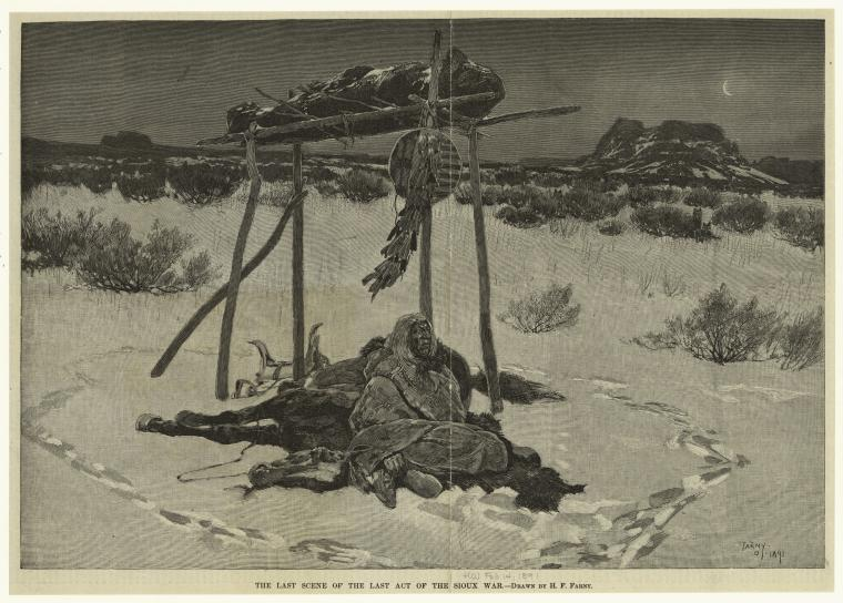 The last scene of the last act of the Sioux War.