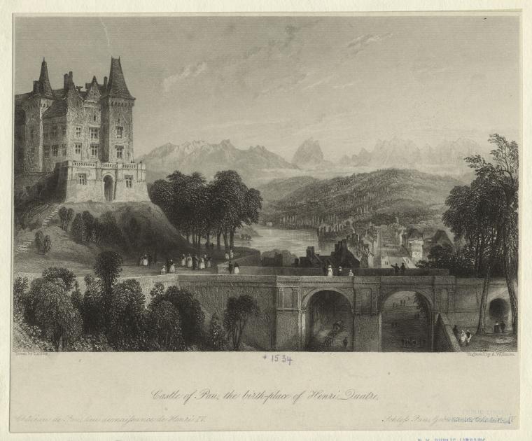 Castle of Pau, the birth-place of Henri Quatre.