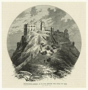 Edinburgh castle, as it was before the Siege of 1873.