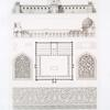 Mosquée d'El-Daher (extra muros): plan, coupe, élévation et détails (XIIIe. siècle)