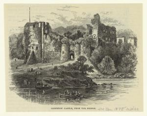 Chepstow Castle, from the bridge.