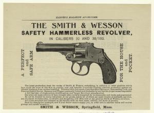 The Smith & Wesson safety hammerless revolver, in calibers 32 and 38/100.