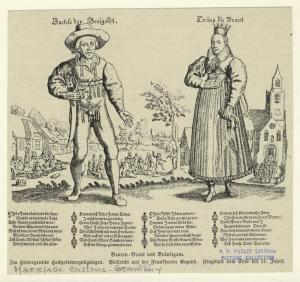Bauern - Braut und Bräutigam.