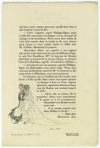 [Wedding gown viewed from the side]