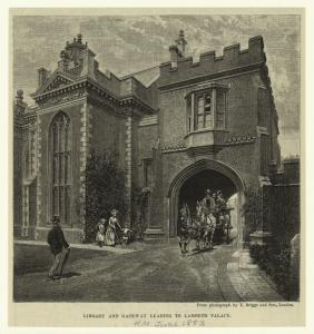 Library and gateway leading to Lambeth Palace.