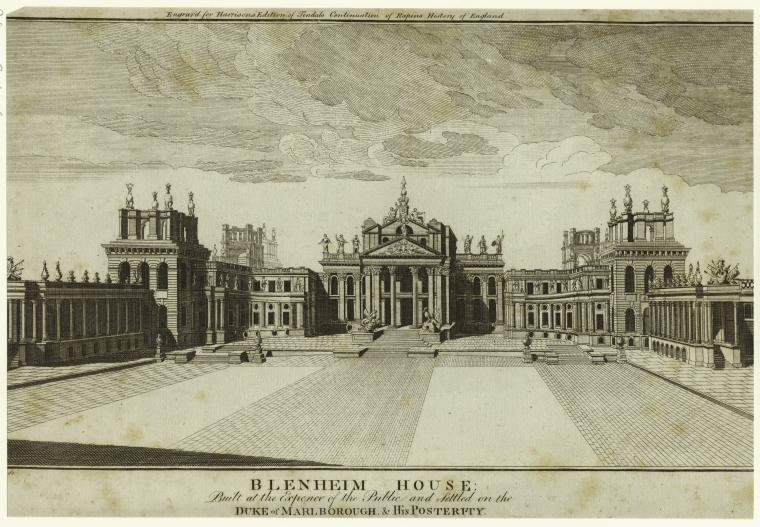 This is What Thomas Prattent and Blenheim House : Looked Like  in 1784