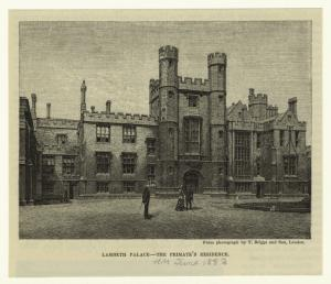 Lambeth Palace -- the primate's residence.