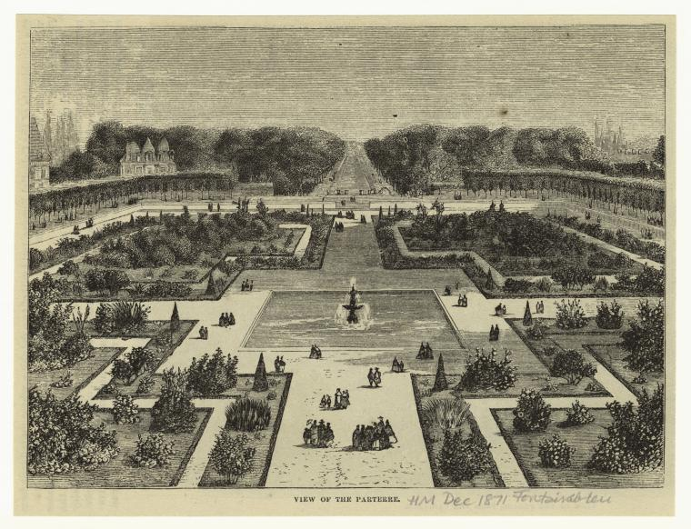 View of the parterre.