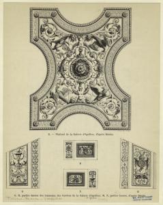 [Architectural details from the Galerie d'Apollon, Chateau de Versailles.]