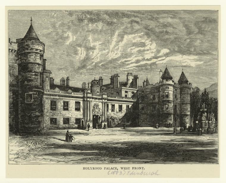 Holyrood Palace, west front.