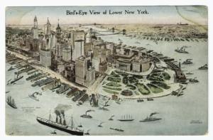 Bird's eye view of lower New York.