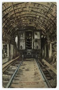 The Brooklyn subway, New York.