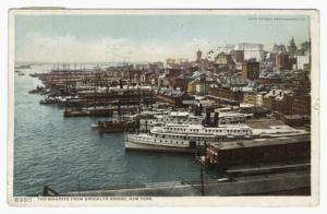 The wharves from Brooklyn Bridge, New York.